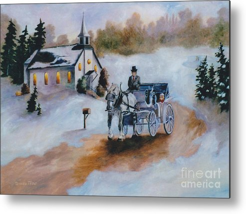 Winter Metal Print featuring the painting Winters Dream by Brenda Thour