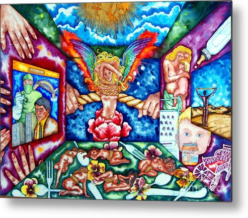 Women Metal Print featuring the painting Womens Lib by Gail Zavala