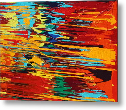 Fusionart Metal Print featuring the painting Zap by Ralph White