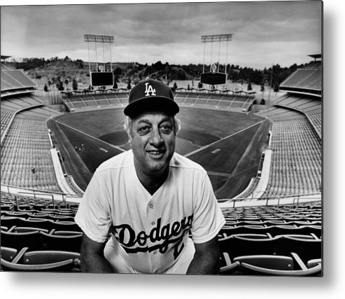 Event Metal Print featuring the photograph Baseball Manager Tommy Lasorda Portrait by George Rose