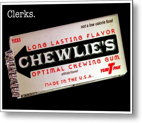 Clerks Metal Print featuring the photograph Chewlie's Gum Clerks by Jas Stem