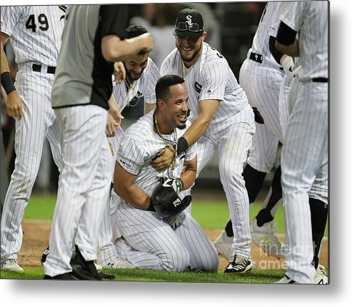 People Metal Print featuring the photograph Detroit Tigers V Chicago White Sox - by Quinn Harris