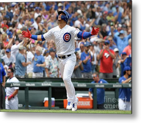 People Metal Print featuring the photograph Pittsburgh Pirates V Chicago Cubs by Quinn Harris