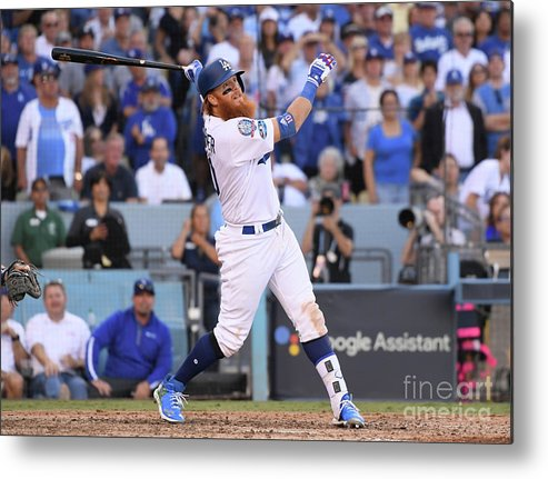 People Metal Print featuring the photograph Justin Turner by Harry How