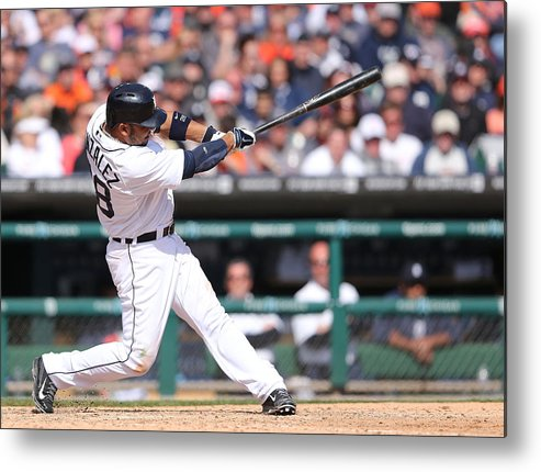 American League Baseball Metal Print featuring the photograph Alex Avila by Leon Halip