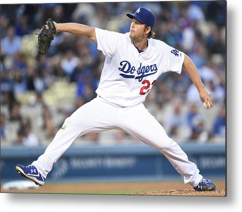People Metal Print featuring the photograph Clayton Kershaw by Harry How