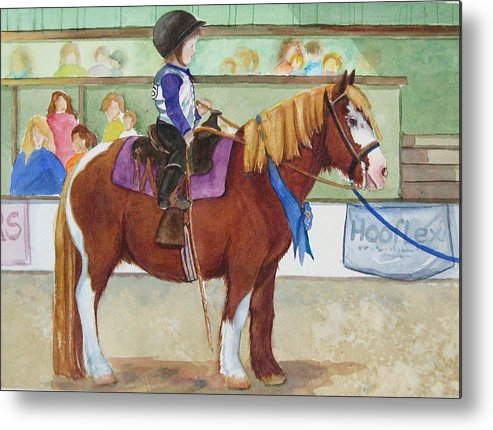 Equine Metal Print featuring the painting Blue Ribbon Day by Gina Hall