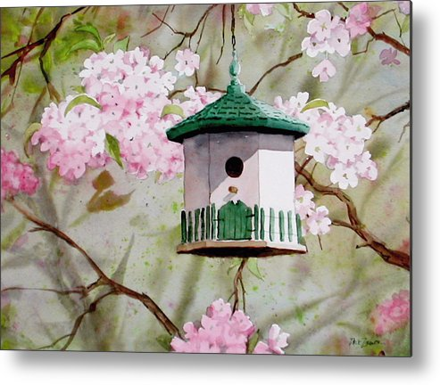 Birds Metal Print featuring the painting Cabin In The Sky by Faye Ziegler