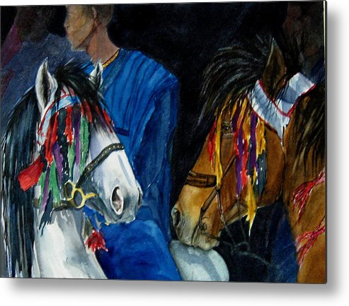 Equine Metal Print featuring the painting Camaroon by Gina Hall