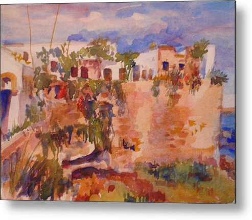 Landscape Metal Print featuring the painting Casablanca by Joyce Kanyuk