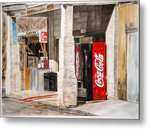 Rural Scene Metal Print featuring the painting Checking Station by Thomas Akers