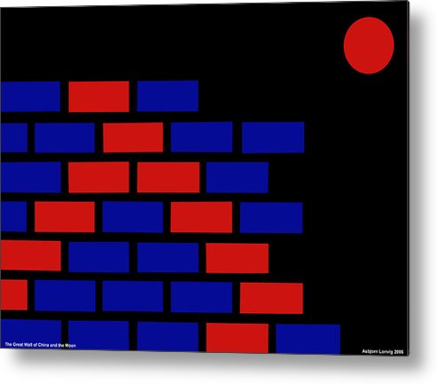 Great Wall Of China Metal Print featuring the digital art Great Wall Of China by Asbjorn Lonvig