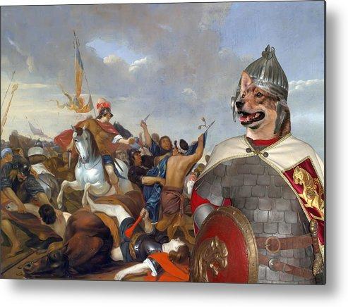 Swedish Vallhund Metal Print featuring the painting Swedish Vallhund - Vastgotaspets Art Canvas Print by Sandra Sij