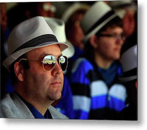 Fedora Metal Print featuring the photograph Baltimore Orioles V Kansas City Royals by Jamie Squire