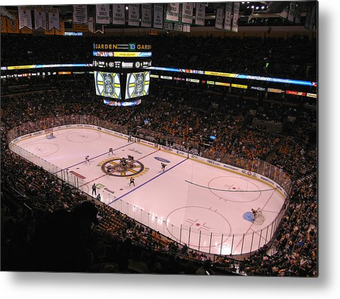Boston Metal Print featuring the photograph Boston Bruins by Juergen Roth