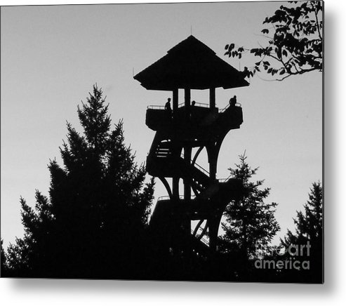 Arboretum Metal Print featuring the photograph The Lonely Lookout by Brian Schell