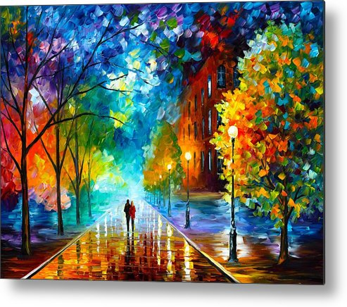 Afremov Metal Print featuring the painting Freshness Of Cold by Leonid Afremov