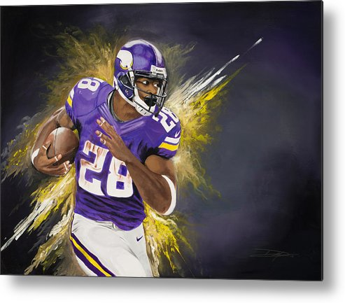 Ap Metal Print featuring the painting Adrian Peterson by Don Medina