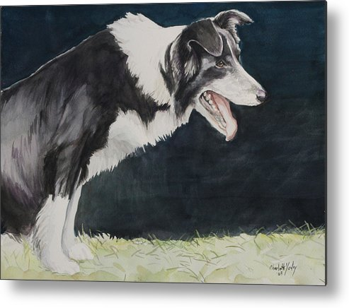Dog Metal Print featuring the painting Always Ready by Charlotte Yealey
