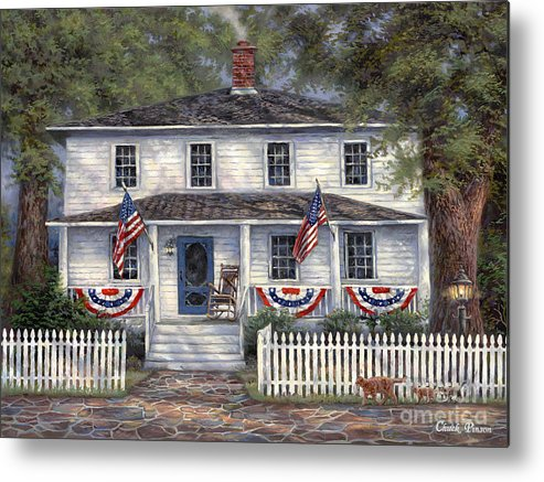 Partriotic Metal Print featuring the painting American Roots by Chuck Pinson
