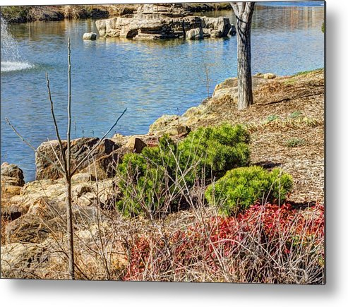 Hdr Metal Print featuring the photograph Blue Waters by John Straton