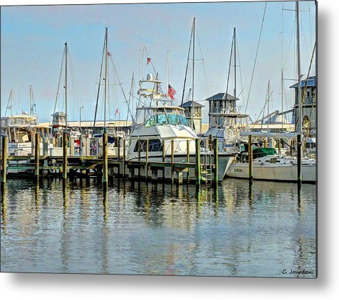 Boat Metal Print featuring the photograph Boats At The Marina by Cathy Jourdan