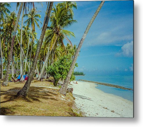 Camping Metal Print featuring the photograph Camping In Tahiti by Pete Hendley