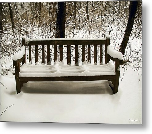 Cold Metal Print featuring the photograph Cold Bench by Ben Lavitt