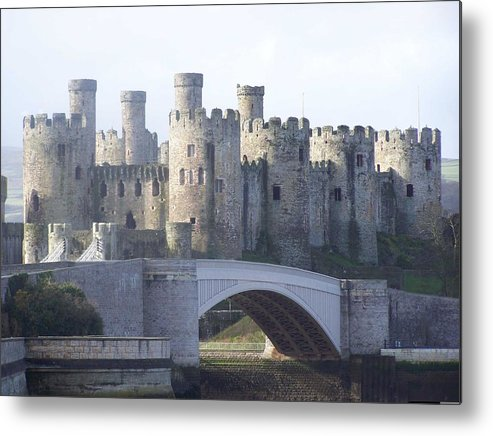Castles Metal Print featuring the photograph Conwy Castle by Christopher Rowlands