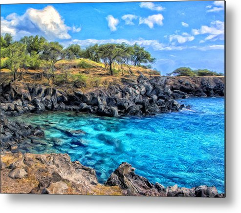 Cove Metal Print featuring the painting Cove At Mahukona by Dominic Piperata