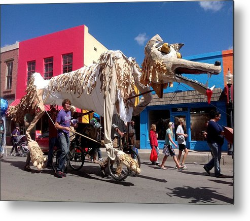Monsoon Puppets Metal Print featuring the photograph Coyote On Parade by Feva Fotos