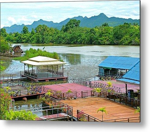 Docking Area On River Kwai In Kanchanaburi Metal Print featuring the photograph Docking Area On River Kwai In Kanchanaburi-thailand by Ruth Hager