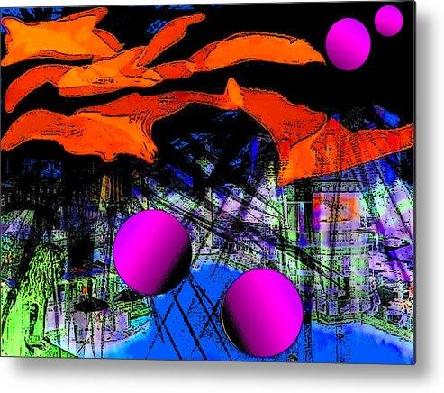Metal Print featuring the digital art Dream City by Romuald Henry Wasielewski