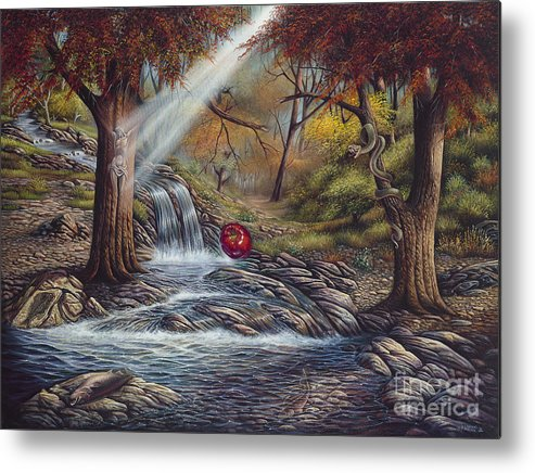 Spiritual Metal Print featuring the painting Duality by Ricardo Chavez-Mendez
