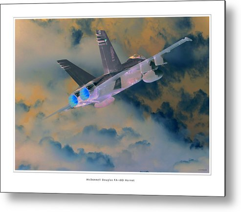 F-18 Hornet Framed Prints Metal Print featuring the photograph Fa-18d Hornet by Larry McManus