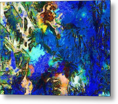 Impressionist Fashion Painting Metal Print featuring the painting Fashion 467 by Jacques Silberstein