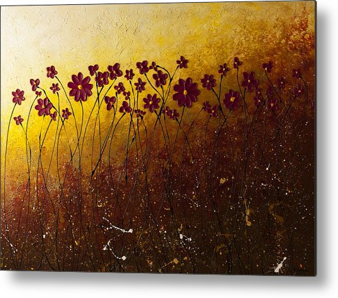 Abstract Art Metal Print featuring the painting Fiori Di Campo by Carmen Guedez