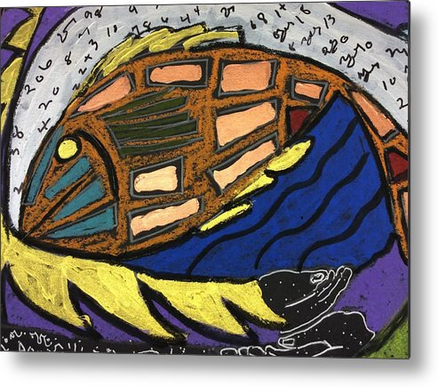Fish File Metal Print featuring the painting Fish File Codex The Mother Word 25 by Clarity Artists