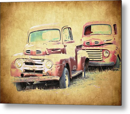 Rust Metal Print featuring the photograph Ford F1 by Steve McKinzie