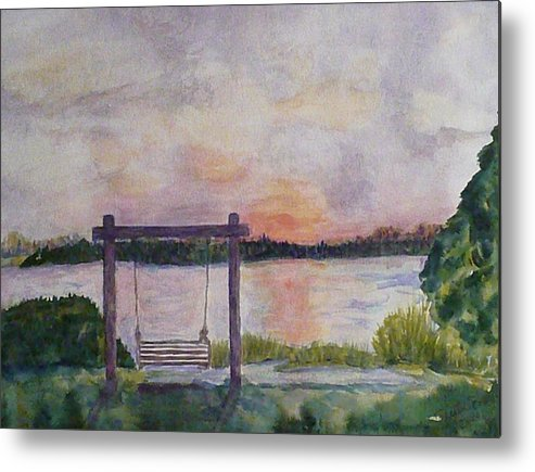 Island Metal Print featuring the painting Fripp Island Marsh by Stella Schaefer