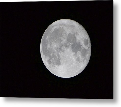 Moon Metal Print featuring the photograph Full Moon by Craig Walker