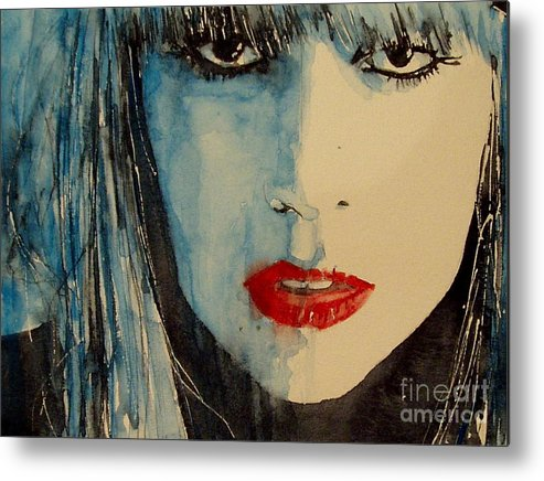 Lady Gaga Metal Print featuring the painting Gaga by Paul Lovering