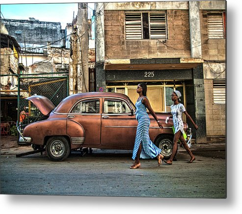 Girl Metal Print featuring the photograph Havana by Svetlin Yosifov
