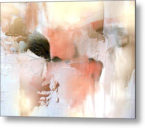 Metal Print featuring the painting Honey Gilt by Davina Nicholas