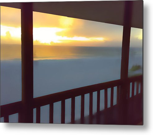 Sunset Metal Print featuring the painting Indian Rocks Clearwater Florida by Mike McMonagle