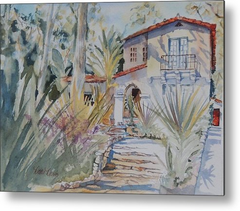 Watercolor Paintings Metal Print featuring the painting It's A Beautiful Day by Dodie Davis