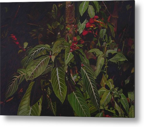 Leaves Metal Print featuring the painting Leaving Monroe by Thu Nguyen