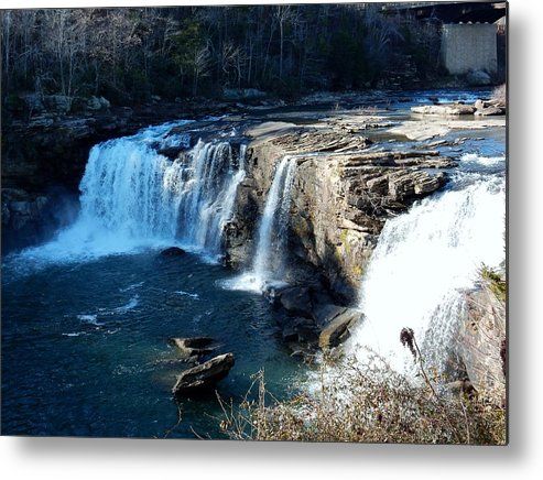 Waterfalls Metal Print featuring the photograph Little River Falls by Kathy R Thomas