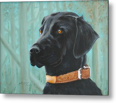 Dog Metal Print featuring the painting Maggie by Scott Alcorn