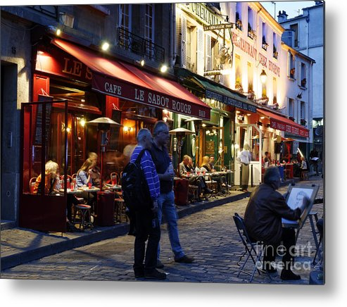 Artist Metal Print featuring the photograph Montmartre Artist by Colin Woods